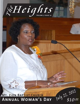 Volume 3 Issue 14 - Mt. Zion Annual Woman's Day