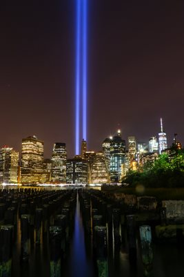 New York 911 Tribute lights