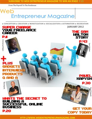 Web Entrepreneur Magazine
