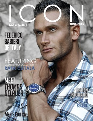 ICON MAGAZINE (JUNE 2015)  MEN'S EDITION