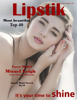 Lipstik magazine Issue 5 Volume 7 2019 TOP 40 Most beautiful