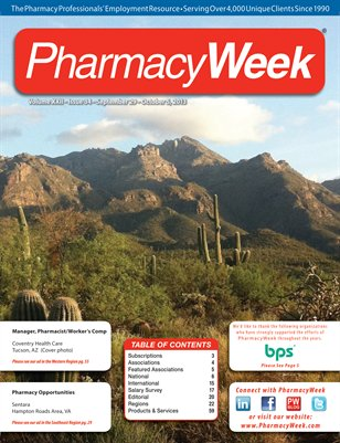 Pharmacy Week, Volume XXII - Issue 34 - September 29 - October 5, 2013