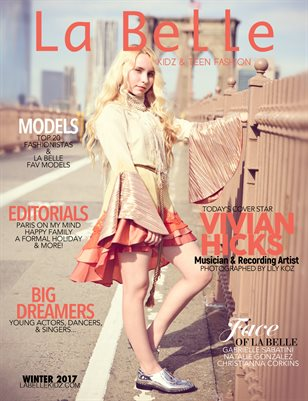 La Belle Kidz & Teen Fashion / Winter 2017 ( New York Cover )