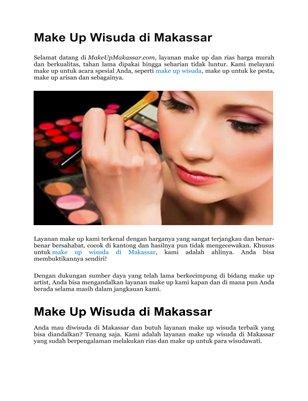 Make Up Wisuda Murah di Makassar