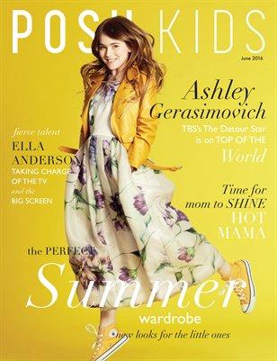 Posh Kids Magazine June 2016 - Ashley Cover