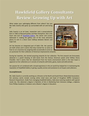 Hawkfield Gallery Consultants Review: Growing Up with Art
