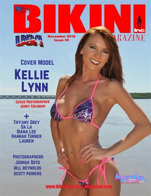 BIKINI INC USA MAGAZINE - Cover Model Kellie Lynn - November 2018