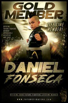 DANIEL FONSECA GOLD MEMBERSHIP/DIPLOMA POSTER