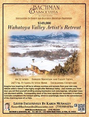 Wahatoya Valley Artist's Retreat Brochure