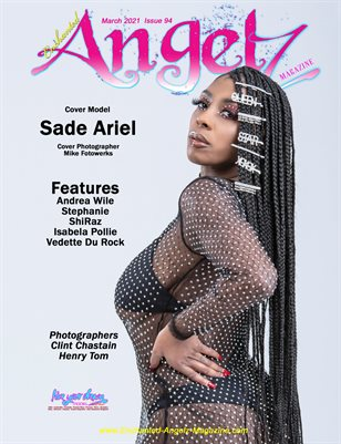 ENCHANTED ANGELZ MAGAZINE - Cover Poster Sade Ariel - March 2021