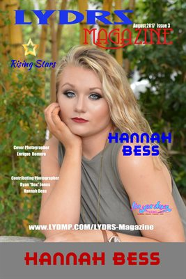 LYDRS MAGAZINE COVER POSTER - Cover Hannah Bess - August 2017