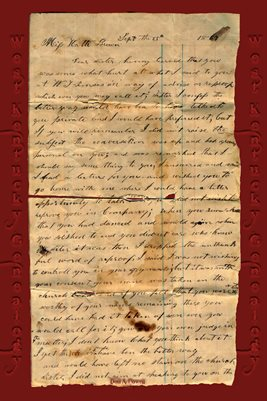 1867 HATTIE BROWN LETTER, FROM THE COCHRAN FAMILY COLLECTION IN GRAVES COUNTY, KENTUCKY