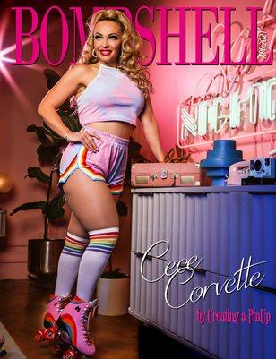 BOMBSHELL Magazine April 2021 BOOK 1 - Cece Corvette Cover