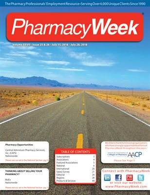 Pharmacy Week, Volume XXVII - Issue 25 & 26 - July 15, 2018 - July 28, 2018