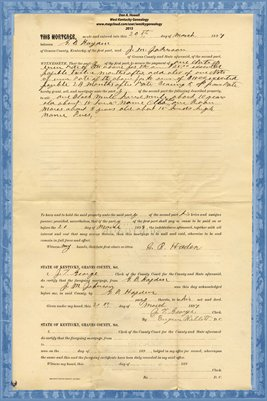1897 Mortgage, G.B. Hayden - J.M. Johnson, Graves County, Kentucky