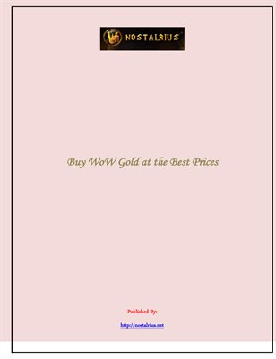 Buy WoW Gold at the Best Prices