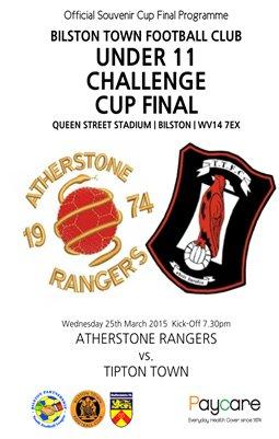 Bilston Town FC Under 11 Challenge Cup Final 2014/2015