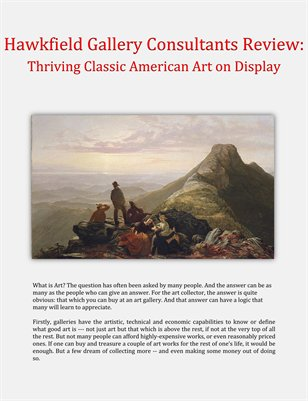 Hawkfield Gallery Consultants Review: Thriving Classic American Art on Display
