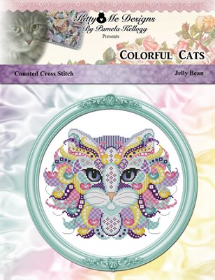 Colorful Cats Jelly Bean Counted Cross Stitch Pattern