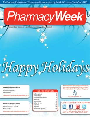 Pharmacy Week, Volume XXIV - Issue 45 - December 20, 2015 - January 2, 2016