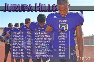 Jurupa Hills Schedule