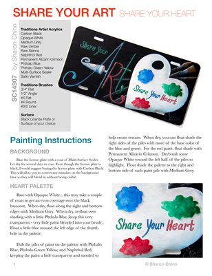 Share Your Art, Share Your Heart Sign Painting Pattern Tutorial by Sharon Chinn SC14907
