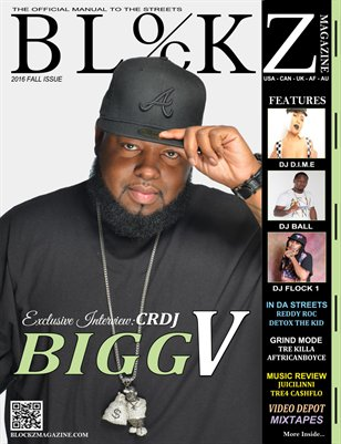 2016 Fall Edition : Cover Story DJ Bigg V