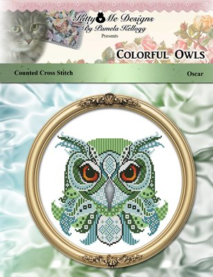 Colorful Owls Oscar Counted Cross Stitch Patterns