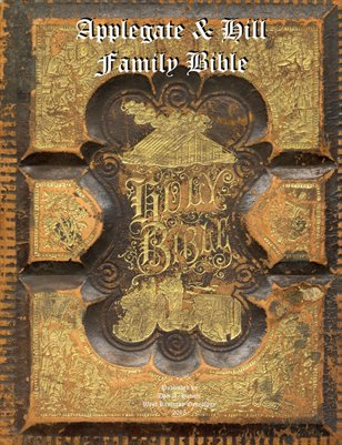 Applegate & Hill Family Bible, Princton, New Jersey