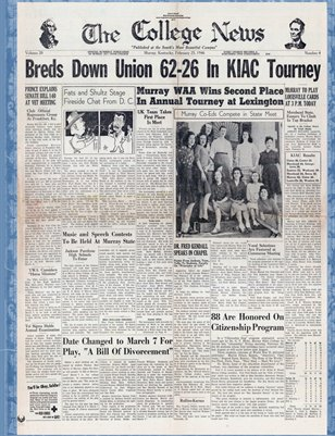 Feb. 25, 1946, The College News, Murray, Calloway County, Kentucky