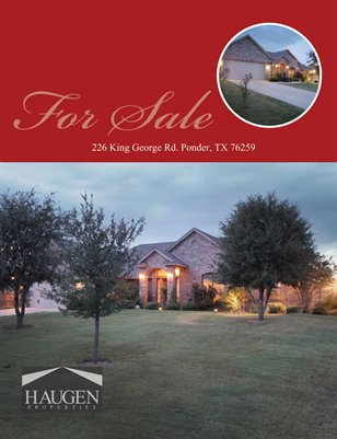 Haugen Properties - 226 King George, Ponder TX 76259
