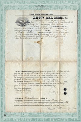 1840 Deed between Abraham Hoover & John Kephant, Miami County, Ohio