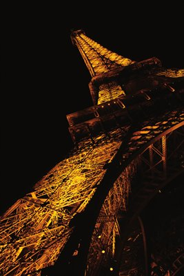Amber Eiffel Tower Poster