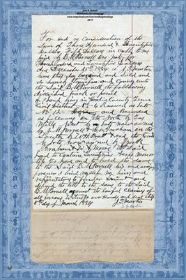 1884 DEED, J.T. MARTIN TO B.M. PARNELL, HARDIN COUNTY, TENNESSEE