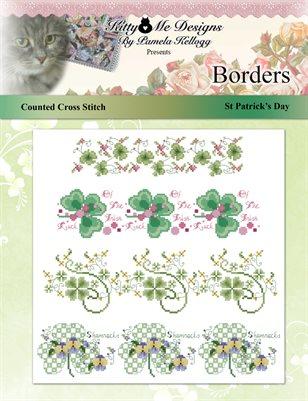 St Patricks Day Cross Stitch Borders Pattern