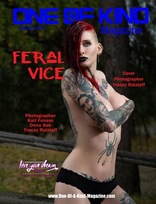 ONE OF A KIND MAGAZINE - Cover Model Feral Vice - September 2018