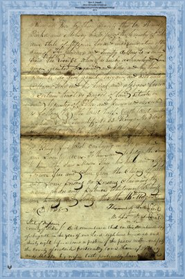 1838 Deed, Parker to Rose, Pike County, Missouri