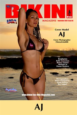 BIKINI INC USA MAGAZINE COVER POSTER - Cover Model AJ - September 2020