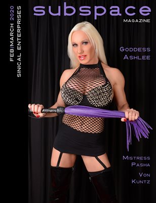 subspace Magazine - Feb/March 2020 - Goddess Ashlee cover