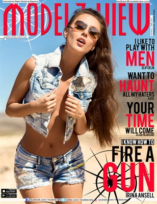 Modelz View Magazine June 2015 - Cover Girl - IRINA ANSELL