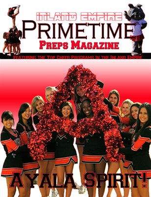Inland Empire Prime Time Preps Magazine Ayala Cheer Edition April 2012