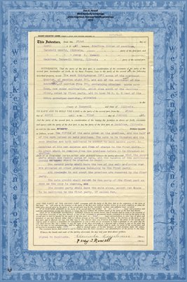 1923, Short Country Lease, Clarinda Dunham & Percy T. Newell, Mackinaw, Tazewell County, Illinois