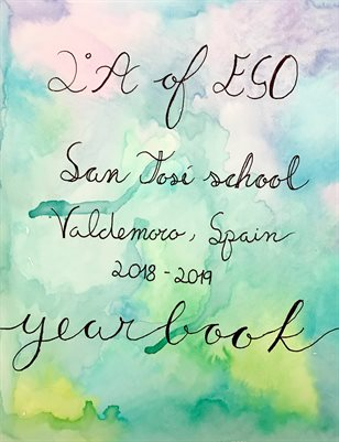 San Jose School Second of ESO A Yearboook