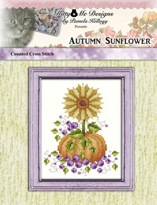 Autumn Sunflower Cross Stitch Pattern