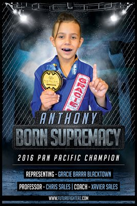 Anthony Born Supremacy Blue Poster