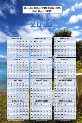 Blue Sky AnnuGrid 2013 Calendar