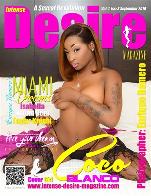 INTENSE DESIRE MAGAZINE - Cover Girl Coco Blanco - September 2016
