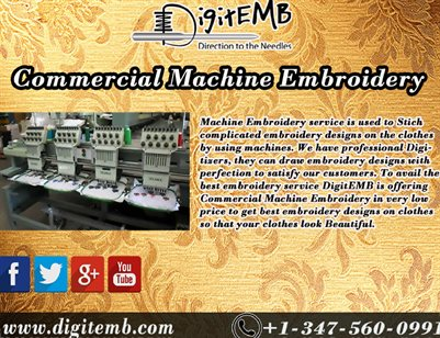 Commercial Machine Embroidery