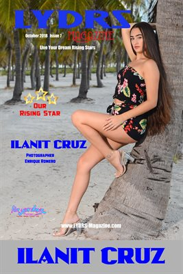LYDRS MAGAZINE COVER POSTER - Rising Star Ilanit Cruz - October 2018
