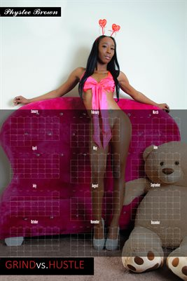 Phystee Brown be mine poster calendar